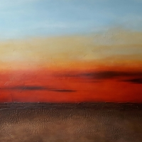 "Molten Sunset | 60"" x 48"" 